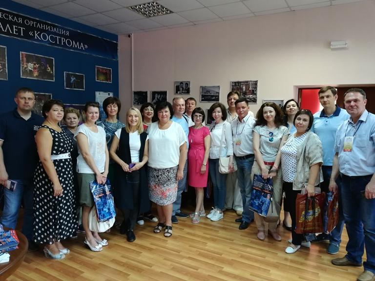 Руководители Министерств и Департаментов культуры регионов России стали гостями «Русского национального балета «Кострома» и его Школы.